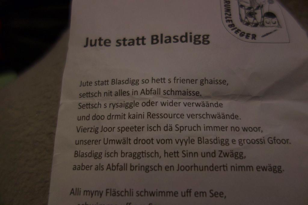 """Basler Fasnacht 2019 """"Zeedel"""""""